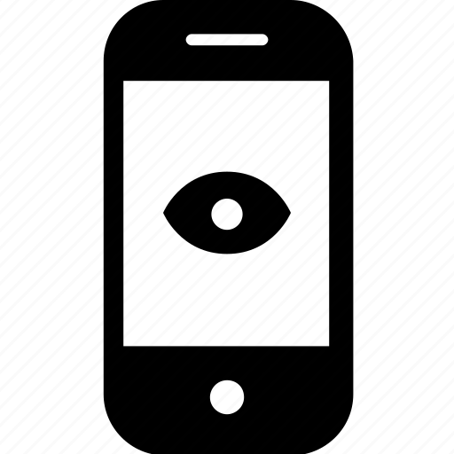 device, eye, gadget, mobile, see, smartphone, watch icon