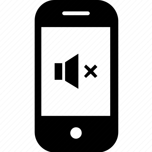 device, gadget, mobile, mute, silent, smartphone icon