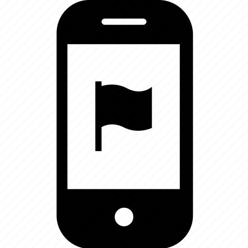 bookmark, device, flag, gadget, mobile, smartphone icon