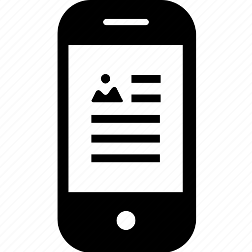 article, device, gadget, image, mobile, smartphone icon