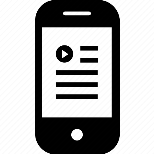 article, device, gadget, mobile, play, smartphone, video icon
