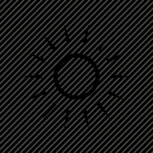 brightness, display, screen, sun icon