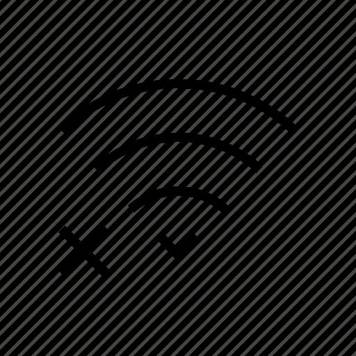 internet, level, network, no, signal, wifi, wireless icon