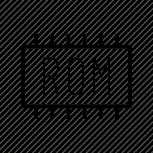 chip, memory, rom, storage icon