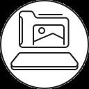 folder, image, smartphone, file, mobile icon