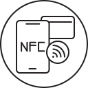 nfc, smartphone, call, phone icon