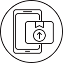 package, send, smartphone, mobile, phone icon