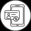 smartphone, verification, mobile, phone icon