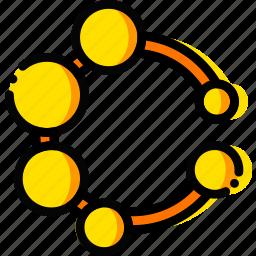 child, dental, toy, yellow icon
