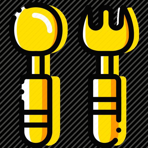 child, feeding, set, toy, yellow icon