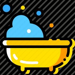 baby, bath, child, toy, yellow icon