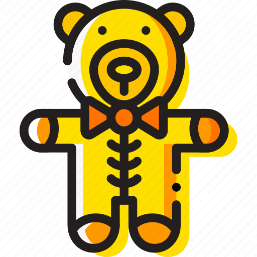 baby, child, teddybear, toy, yellow icon