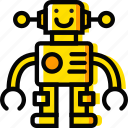 toy, robot, yellow, child