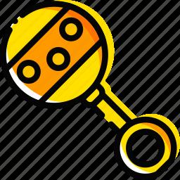 baby, child, jingle, toy, yellow icon