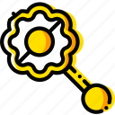 baby, child, jingle, toy, yellow icon