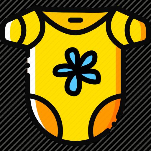bodywear, child, girl, toy, yellow icon