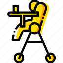 chair, child, feeding, toy, yellow icon