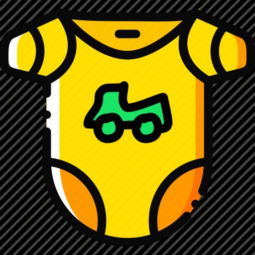 bodywear, boy, child, toy, yellow icon
