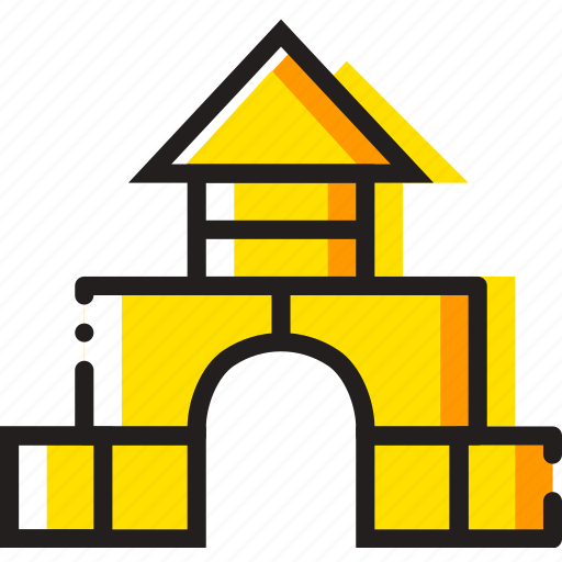 blocks, building, child, toy, yellow icon