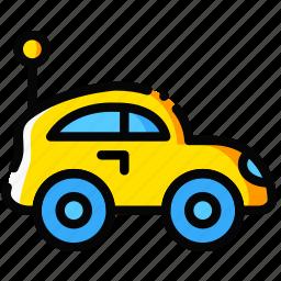 car, child, toy, yellow icon