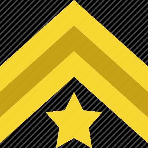 army, badge, colour, military, sergeant, war, ww1 icon