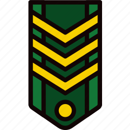 army, badge, military, rank, soldier, war icon