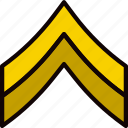 army, badge, corporal, military, soldier, war icon