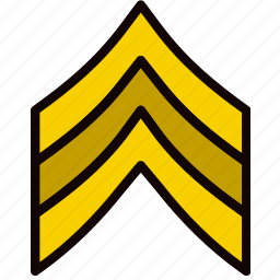 army, badge, military, sergeant, soldier, war icon