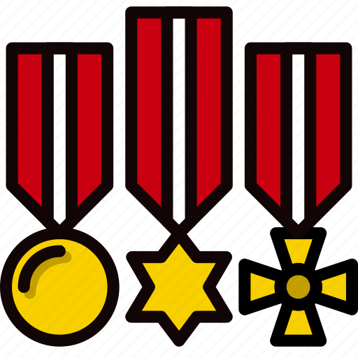 army, badge, medals, military, soldier, war icon