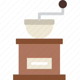 beans, coffee, grinder, hot, shop icon
