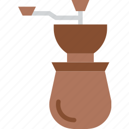 aroma, beans, coffee, grinder, shop icon