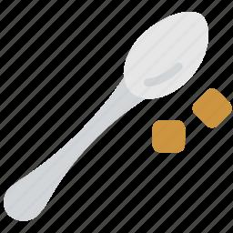 coffee, mix, shop, spoon, sugar icon