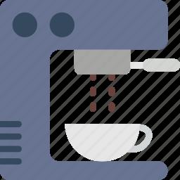coffee, cup, esspresso, machine, shop icon