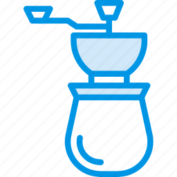 beans, coffee, cup, drink, grinder, shop icon