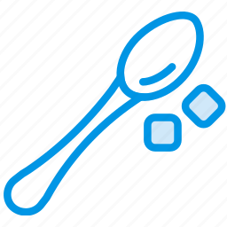 coffee, cup, shop, spoon, sugar icon