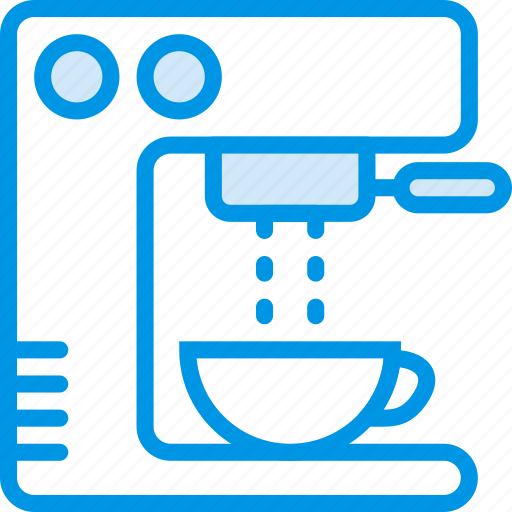 coffee, cup, drink, esspresso, machine, shop icon