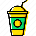 coffee, drink, ice, milkshake, shop icon