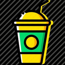 coffee, drink, ice, milkshake, shop icon