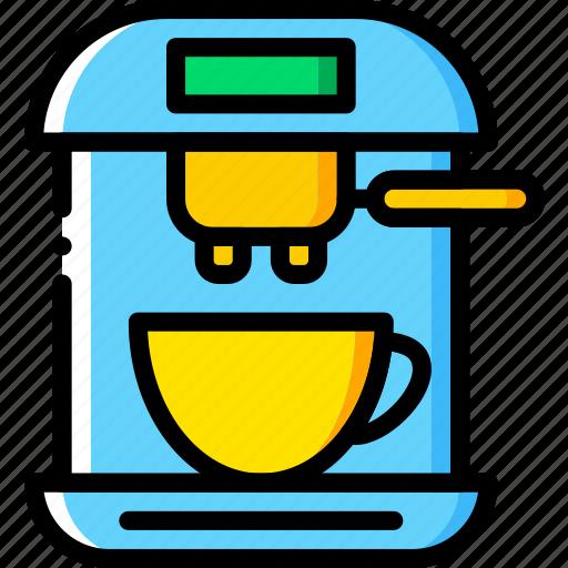coffee, cup, drink, esspresso, machine, shop icon