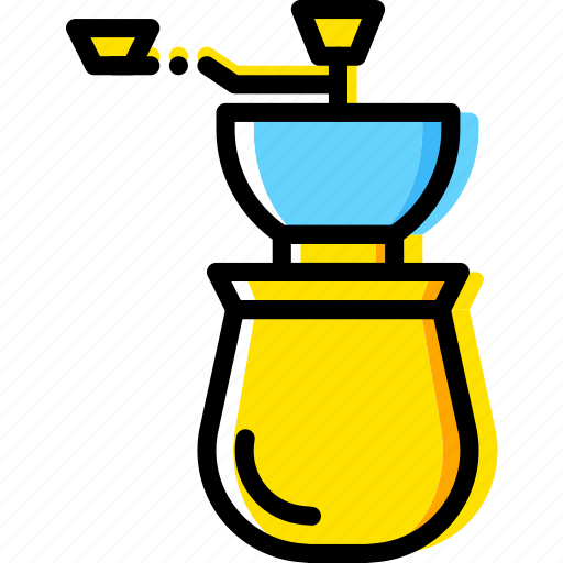 beans, coffee, cup, grinder, shop icon
