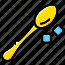 shop, coffee, cup, drink, sugar, spoon icon