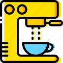 coffee, cup, esspresso, machine, shop icon