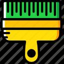 brush, building, construction, tool, work