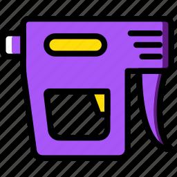 building, construction, gun, nail, tool, work icon
