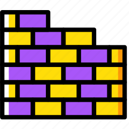 building, construction, tool, wall, work icon