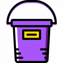 bucket, building, construction, paint, tool, work icon