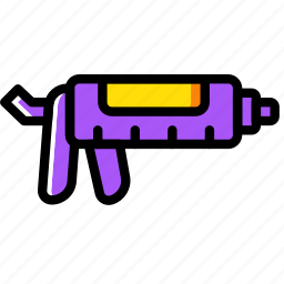 building, caulking, construction, gun, tool, work icon