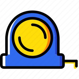 building, construction, measure, tape, tool, work icon
