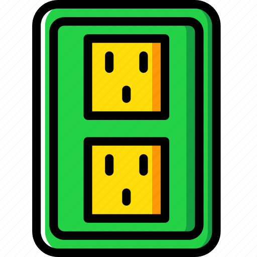 building, construction, double, socket, tool, us, work icon