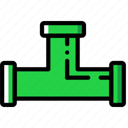 building, construction, pipe, tee, tool, work icon